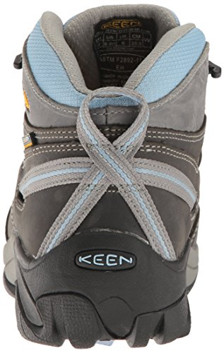 Keen Utility Womens Detroit Mid Soft Toe Industrial and Construction Shoe, Magnet/Blue Bell, 10 W US