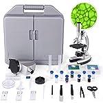 TELMU Microscopio - Ingrandimento di 300X-600X-1200X, Microscopio Bambini con 70+ pezzi kit di Accessori, con Braccio e… 51Bi6vi08DL. SS150