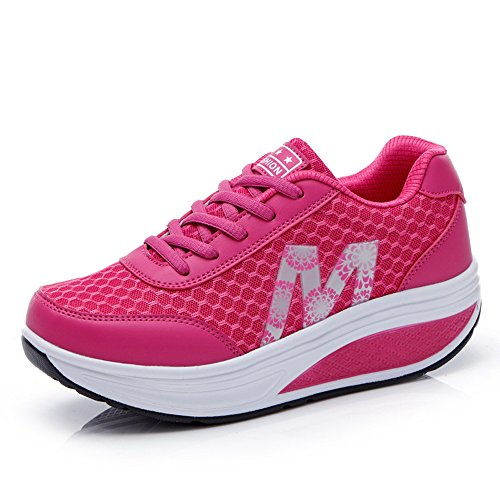 Mesh Ladies Single red Sports Shoes Mesh Shoes Shoes Breathable Sports Hasag Casual New Shoes Platform Women'S Female ISqHwU