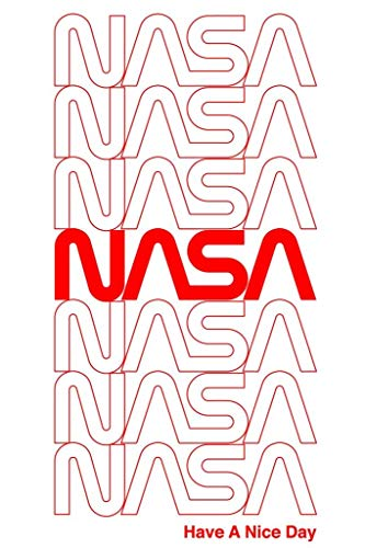 (Laminated NASA Retro Repeating Worm Logo Sign Poster 12x18 Inch)
