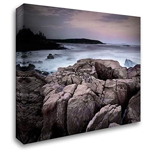 (Sunset of The Atlantic Ocean Near Thunder Hole, Acadia National Park, Maine 36x28 Gallery Wrapped Stretched Canvas Art by Fitzharris, Tim)