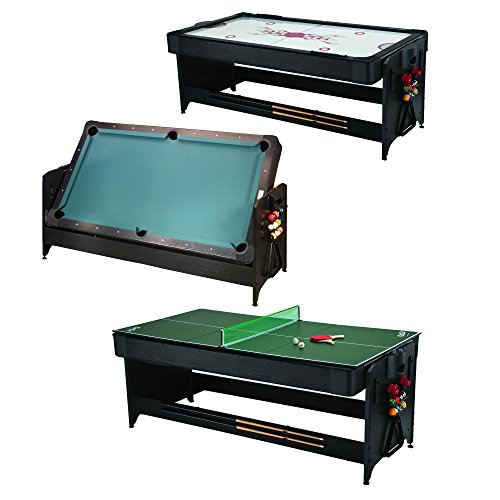 - Fat Cat Original 3-in-1, 7-Foot Pockey Game Table (Air Hockey, Billiards and Table Tennis)