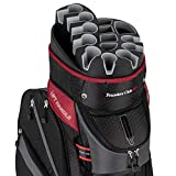 Founders Club Premium Golf Cart Bag with 14 Way Organizer Divider Top (Charcoal)