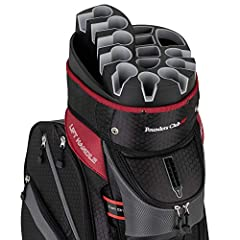 The Founders Club Premium Cart Bag provides the ultimate protection for your clubs. The 14 Way divider system provides each club with a protective rubberized slot holding each grip away from the other. No rattles, no club damage, and knowing ...