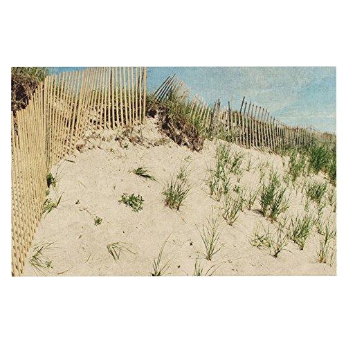 KESS InHouse Jillian Audrey Cape Dunes  Brown bluee Dog Place Mat, 13  x 18