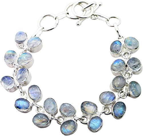 designer-sterling-silver-overlay-clasp-bracelet-with-genuine-rainbow-moonstone-gemstones