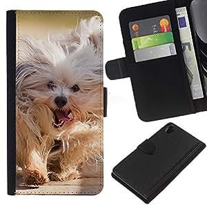 eJoy---La carpeta del tirón la caja de cuero de alta calidad de la PU Caso protector - Sony Xperia Z2 D6502 - --Husky Siberian Dog Sledge Polar Komandor