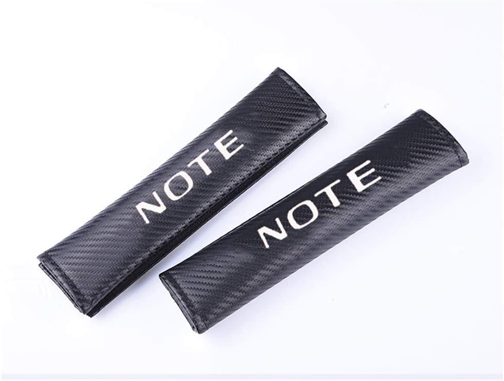 para Nissan Note Adultos y Ni/ños Acolchado Hombro Funda Seat Belt Shoulder Comfort Protection Accessories HUAQIEMI 2Pcs Carbon Fibra Seguridad Almohadillas Cintur/ón
