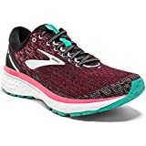 Brooks Women's Ghost 11 Black/Pink/Aqua 6.5 Wide US
