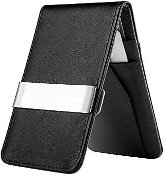 Genuine Leather Busines Wallet Credit Card Holder Wallet Clip Money Holder J