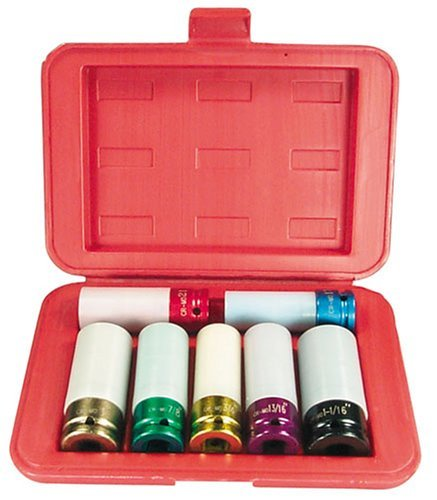 Astro 7870 Chrome Protective Plastic Sleeve & Shallow Broach Socket Set by Astro Pneumatic Tool