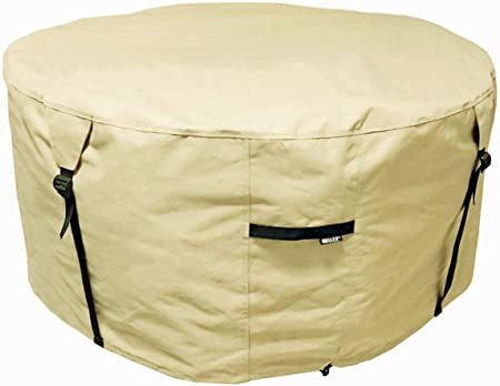 Fire Pit Cover Oxford Fabric Outdoor Garden Patio Heater Cover for Garden Fire Bowl Cover Protector