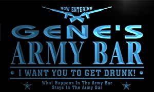 tq200-b Gene's Army Bar Beer Gun I Want You...... Neon Light Sign