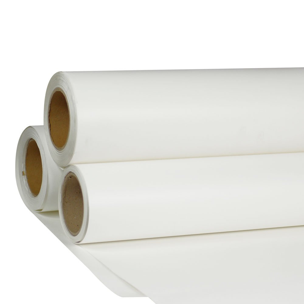 24'' x 5 Yard HTV White Printable Heat Transfer Vinyl Roll Iron On Vinyl Film for T-Shirt Fabric Coats Cap Fabric Bags Pillowcase Leather Bag(Using ECO Solvent Ink)