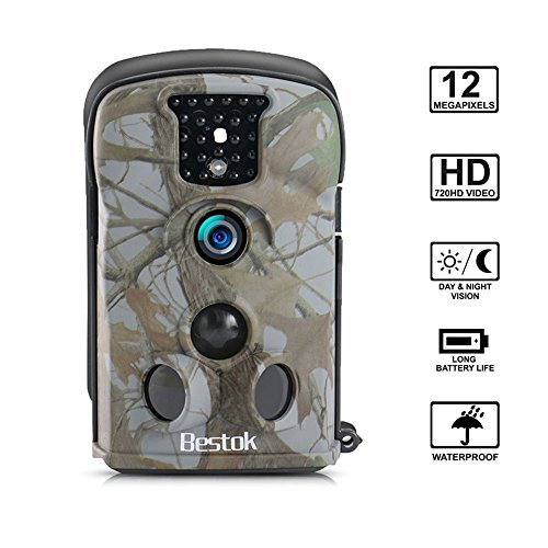 Bestok Hunting Camera 120° Lens 12MP HD Infrared Night Vision 65ft 2.4'' LCD Trail Wildlife Camera - Illustration Lens Camera