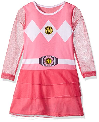 2t Pink Power Ranger Costume (Power Ranger Toddler Girl's Pink Power Ranger Costume Nightgown Sleepwear, pink, 2T)