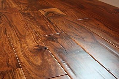 "Elk Mountain Acacia Parchment 9/16"" x 4-3/4""Hand Scraped Engineered Hardwood Flooring AF022 SAMPLE"