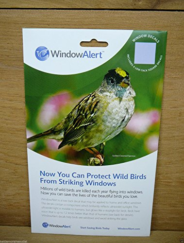 - Window Alert 4 Square Decals Save and Protect Wild Birds from Window Strikes