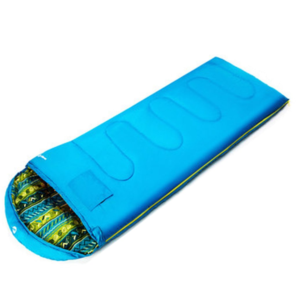 bluee Folding Chairs Sleeping Bag Adult Indoor Thick Warm Outdoor Camping Winter Viscera Feather Cotton Sleeping Bag 180  75 cm Suitable Temperature -5 °C -10 °C (color   bluee)