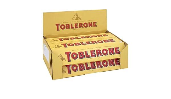 Toblerone - Chocolate con Leche de 400 g (Paquete de 10 Unidades): Amazon.es: Alimentación y bebidas