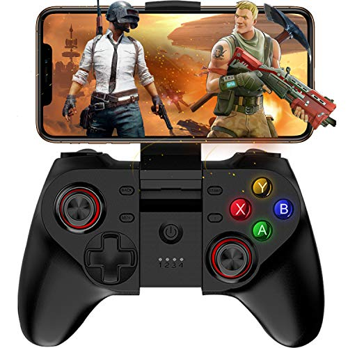 Mobile Game Controller, Megadream Wireless Key Mapping Gamepad Joystick Perfect for PUBG & Fotnite & More, Compatible for iOS Android iPhone iPad Samsung Galaxy Other Phone & Tablet PC - Direct Play ()