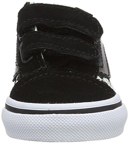 Vans Unisex Baby Peanuts Old Skool V Sneaker Schwarz (Peanuts/ Snoopy/checkerboard)