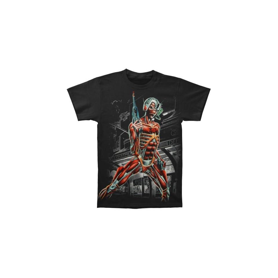 Iron Maiden Mens Jumbo Somewhere In Time Eddie T shirt XX Large Black