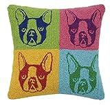 Peking Handicraft Pop Art French Bulldog Hook Pillow, Multicolored