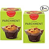 (2 Pack) Standard Lotus Baking Cups, / Cupcake Liner Muffin Wrapper, 24 Pieces (12-ct/Box)