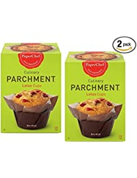 Buy (2 Pack) Standard Lotus Baking Cups, / Cupcake Liner Muffin Wrapper, 24 Pieces (12-ct/Box) deal