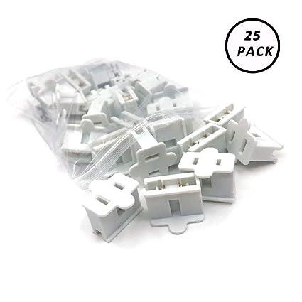 Aniai (25) Pack Zip Plug - Male Female Gilbert plug - Vampire plug SPT-1  SPT-2 (spt1 female, white)