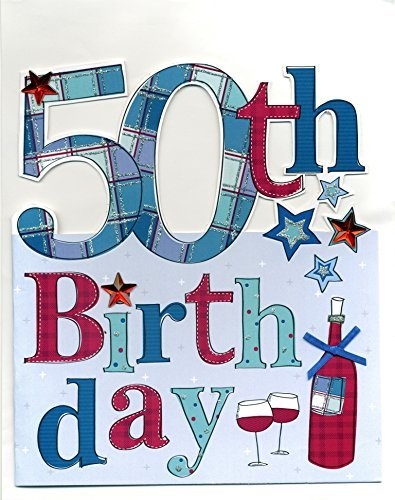 Amazon Cutting Edge Large 50th Birthday Greeting Card 9 X 10