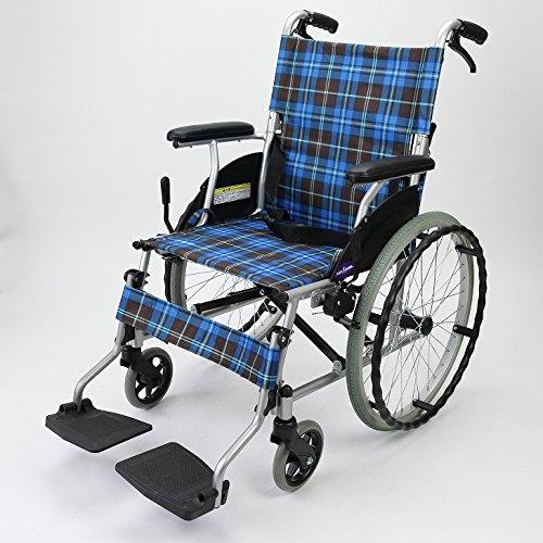【自走式車椅子】【ディオ】【頑丈なアルミ】【11.3㎏の最軽量】【折畳時は超コンパクトなサイズ】【ノーパンクタイヤ採用】 B076HM4ZZP