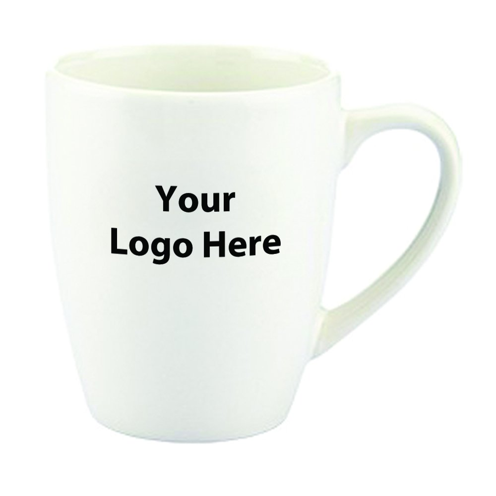 12 Oz. Contemporary Challenger Cafe Ceramic Mug - 72 Quantity - $3.70 Each - PROMOTIONAL PRODUCT / BULK / BRANDED with YOUR LOGO / CUSTOMIZED