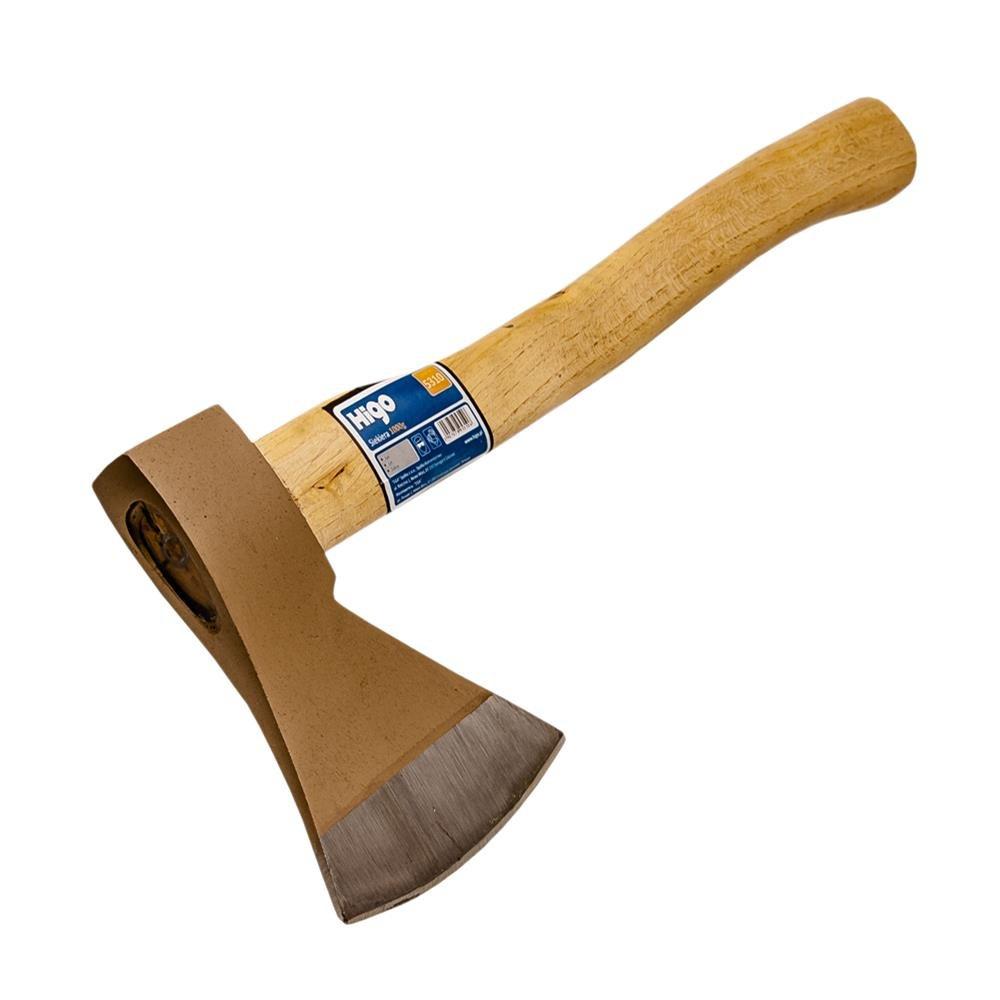 Spaltaxt f/ür Hausgebrauch HIGO Axt 1000 5310 Holzhandgriff verh/ärteter Axtkopf