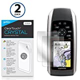 Garmin GPSMAP 78sc Screen Protector, BoxWave® [ClearTouch Crystal (2-Pack)] HD Film Skin - Shields From Scratches for Garmin GPSMAP 78sc, 78, 78s