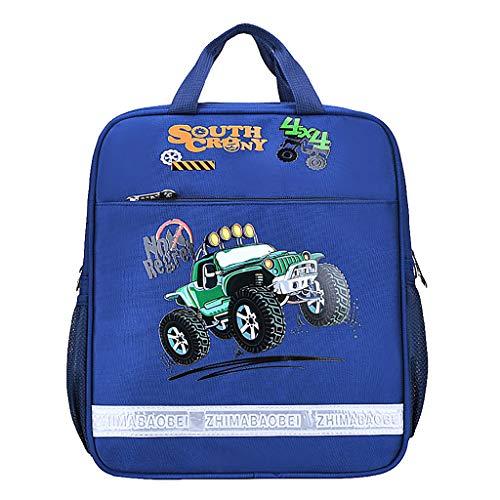 Fitfulvan Cartoon Handbag Student Tutorial Bag Large Capacity Backpack Bag