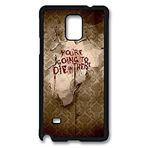 Samsung Galaxy Note 4 Case, Note 4 Case - Highly Protective Black Hard Back Case for Galaxy Note 4 Case American Horror Story 4 Anti-Scratch Hard Case for Samsung Galaxy Note 4