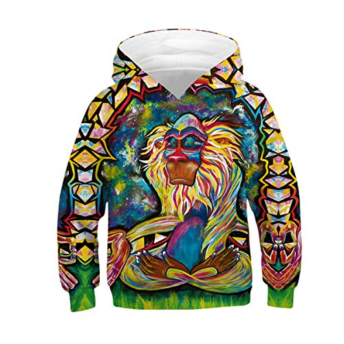 - Azuki Monkey Sweatshirts for Teen Girls and Boys