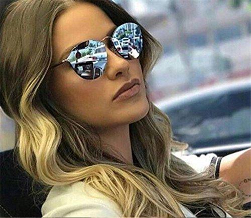 señoras Bastidor reborde Fishion sin gafas Gato qbling Diseñador gafas 2018 Retro sol marca de Ojo de lujo de lindo de gafas technolog mujeres Verde de de Pistola para Nuevo sol FvPwBq