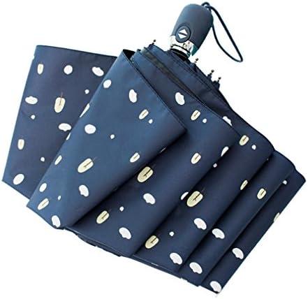 U-TOO 傘 日傘 ワンタッチ 自動開閉 折りたたみ傘 レディース メンズ 日傘 uvカット 100 遮光 折りたたみ 軽量 遮熱 晴雨兼用 男女兼用 ひんやり傘 完全遮光/UVカット率約99%/UPF50+(森、ネイビー)