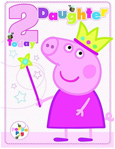 Amazon.com: Peppa Pig Edad 2 hija gran tarjeta de cumpleaños ...