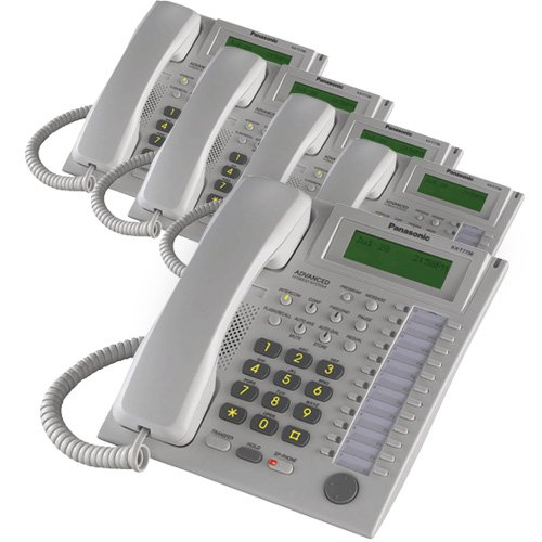 - Panasonic KX-T7736 Corded Telephone White (5 Pack)