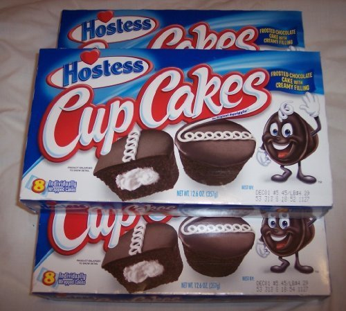 Hostess Cup Cakes -3 Box Pack- 24 Cup Cakes by Hostess by Hostess