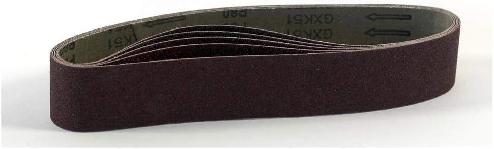 grains 800 5PCS Bandes abrasives pour ponceuse /à bande//courroies abrasives 50x686 mm