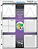 MiniPLOT Graph Paper Kit: 2 Normal Curves & 4 XY axis coordinate designs for STATISTICS printed on 3x3'' Sticky Note pads. 50 adhesive backed graphs per pad mounted on 8.5x11'' cardstock.