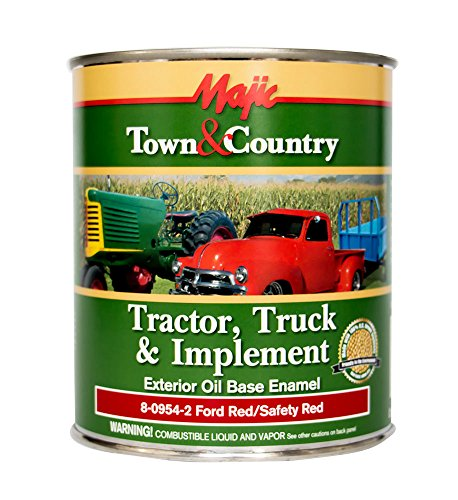 - Majic Paints 8-0954-2 Town & Country Tractor, Truck & Implement Oil Base Enamel Paint, 1-Quart, Ford Red