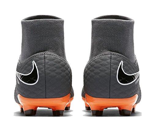 Nike Jr Phantom 3 Academy DF FG, Zapatillas de Fútbol Unisex Niños Gris (Dark Greytotal Orangewhite 081)