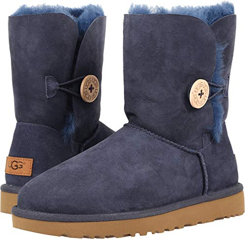 UGG Women's Bailey Button II Winter Boot, Navy, 7 M US