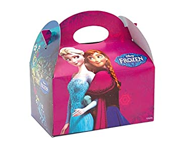 12 X Disney Frozen Party Meal Box Childrens Kids Carry Food Birthday Party Loot Bag Box Anna Elsa Sven Olaf Kristoff